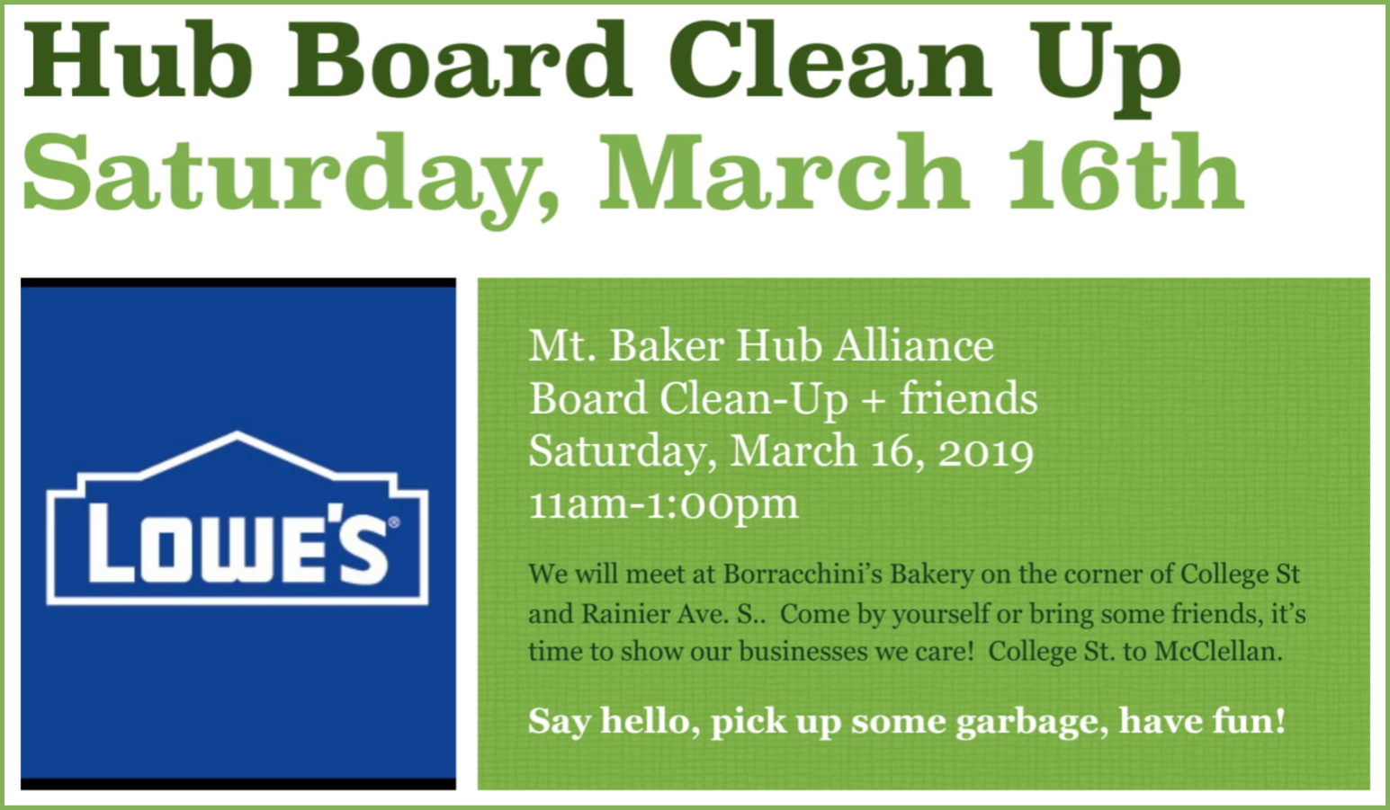 Hub Board Clean-Up 3/16